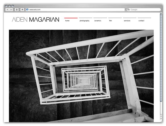Página Web Wix HTML5 de Aiden Magarian