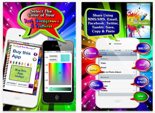 Aplicación Color Text Messages