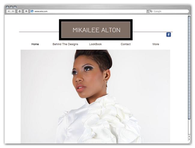 Sitio Wix de Mikailee Alton