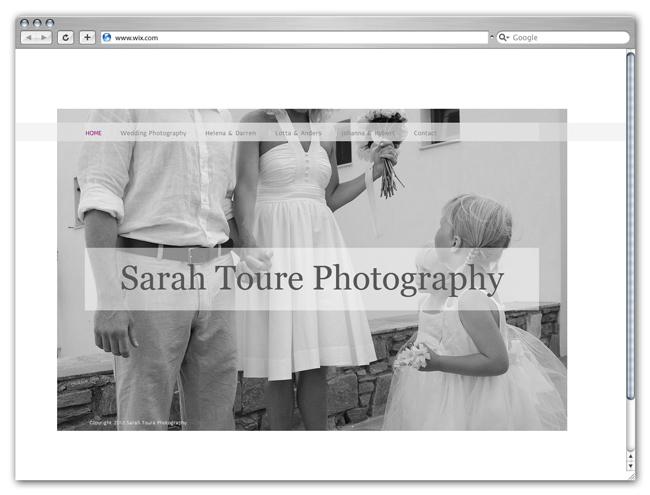 Sitio Wix de Sarah Toure Photography