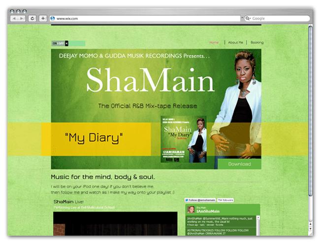 Página web Wix HTML5 de ShaMain
