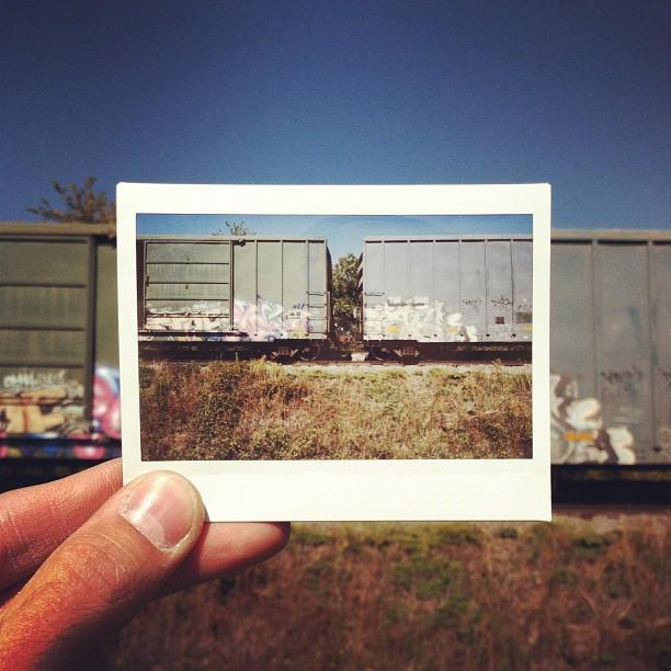 Tren decorado con Graffitti