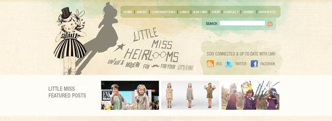 Encabezado de Little Miss Heirlooms
