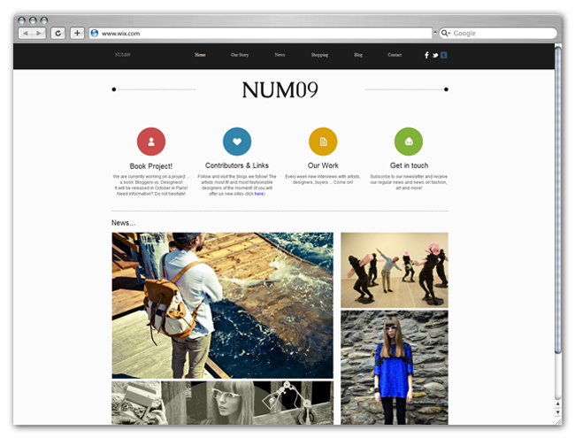 Sitio Wix de Num09