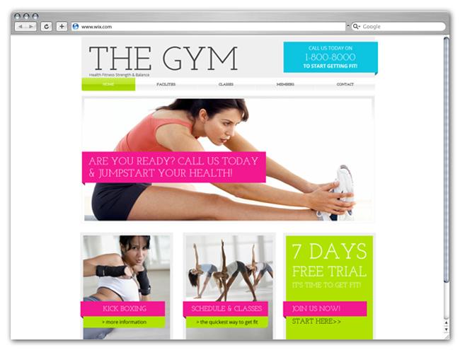 Plantilla Gym Club