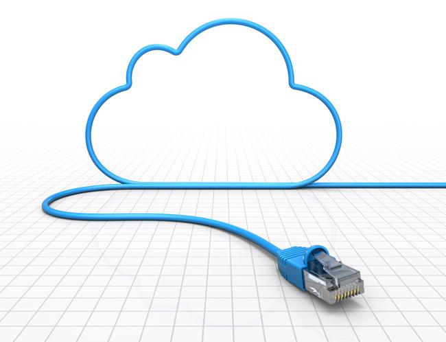 Un cable USB forma una nube