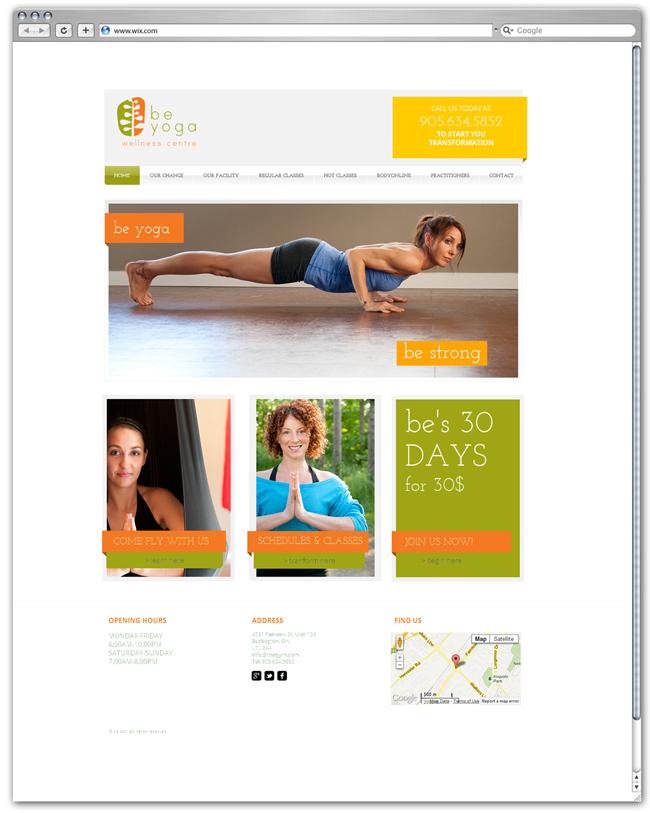 Página de Inicio de Be Yoga por fizzbucket