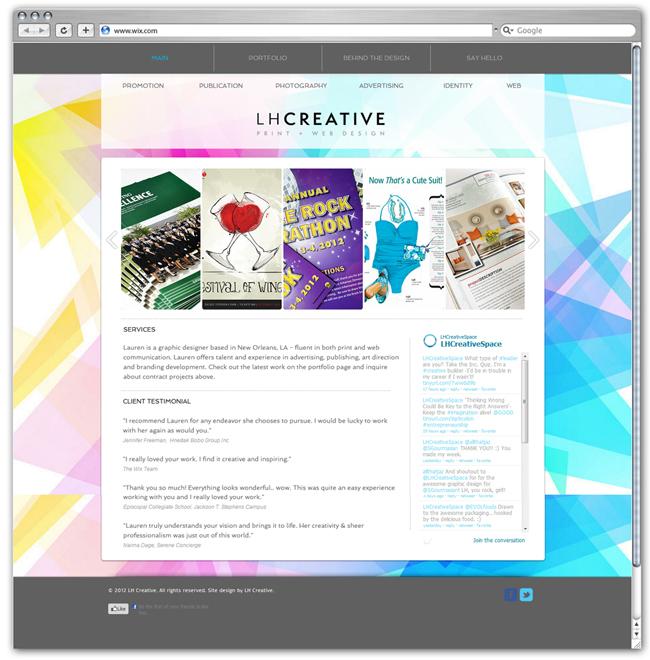 Página de Inicio de LH Creative