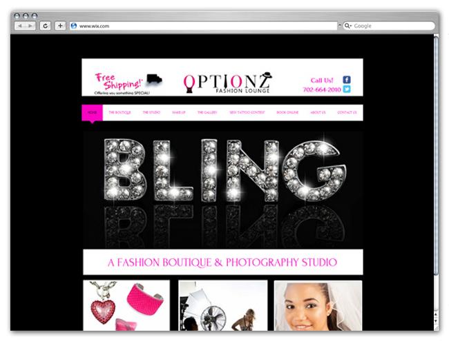 Sitio web de modas