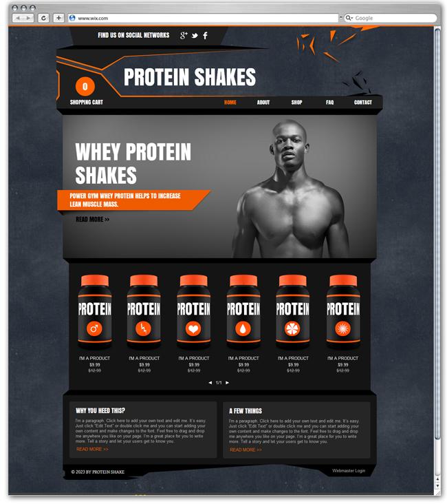 Plantilla Protein Shakes