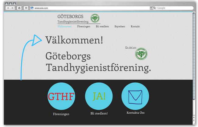 Sitio web de Goteborgs Tandhygienistförening - Suecia