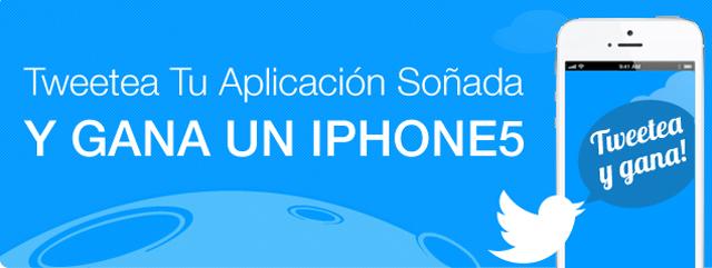 Tweetea tu aplicación soñada y gana un iPhone5
