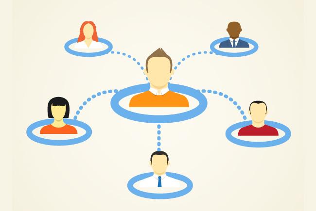 Red de personas conectadas