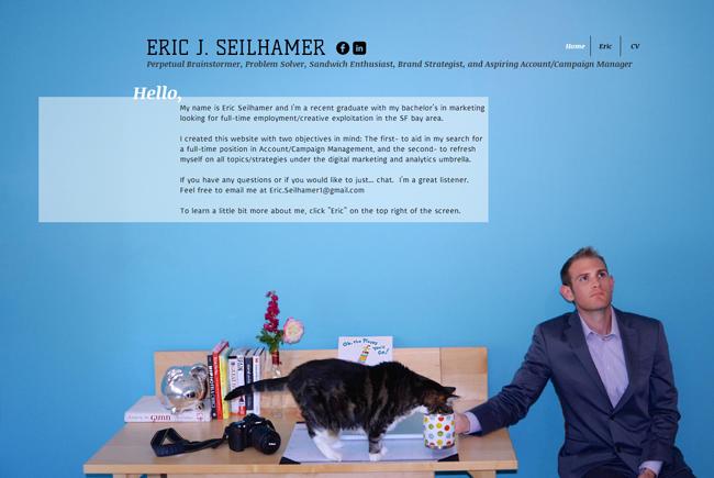 Tarjeta de presentación de Eric Seilhamer