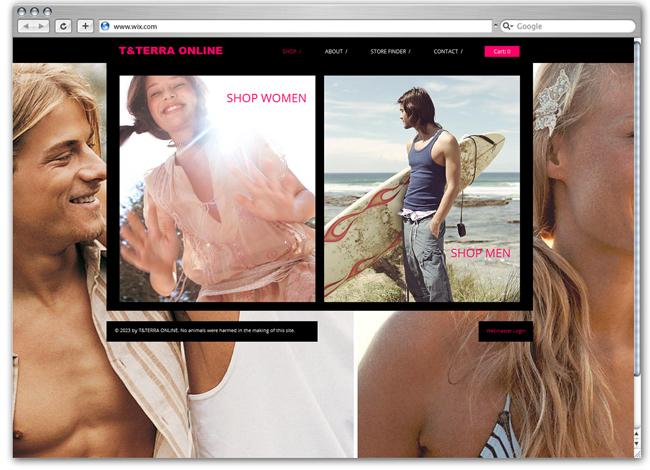 Plantilla Wix de Fashion Online
