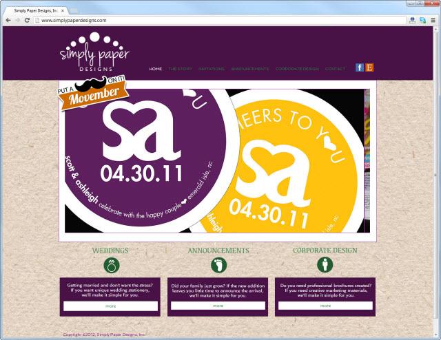 Página de inicio de simplypaperdesigns.com