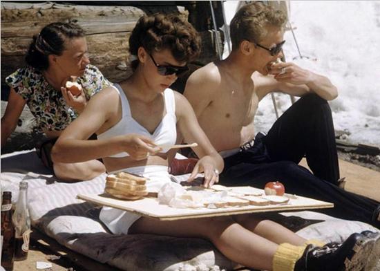 Alpine picnic, circa 1950s