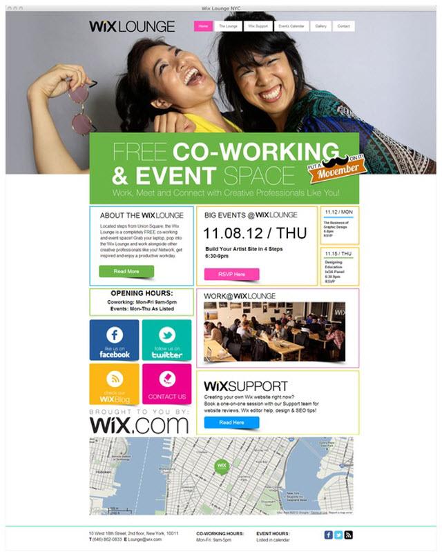 Página de inicio de wixlounge.com