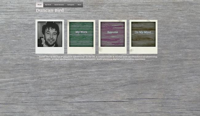 Sitio Web de Duncan Bird