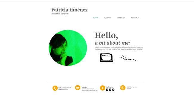 Sitio Web de Patricia Jiménez