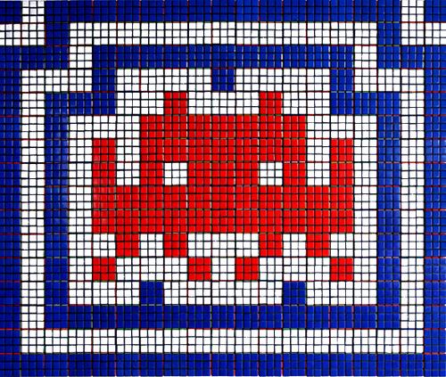Space Invaders en Cubos de Rubik