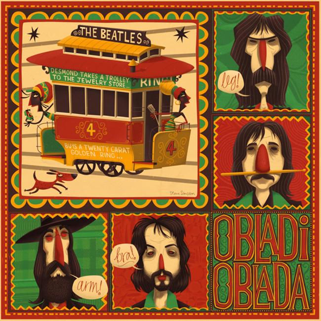 Caricaturas de The Beatles