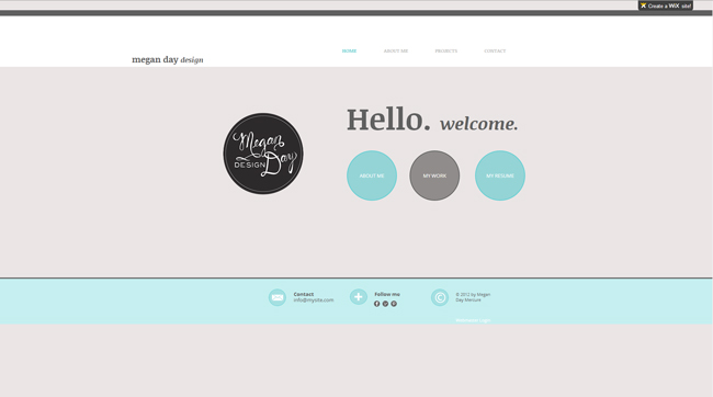 Sitio web de Megan Day Design