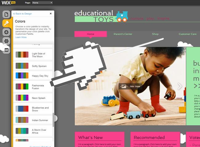 Haz clic en cualquiera de los colores y personalízala
