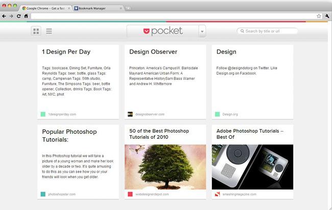 Sitio Web Pocket