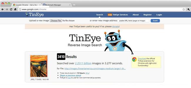 Sitio Web Tin Eye