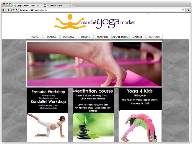 Página de Inicio de Marché Yoga