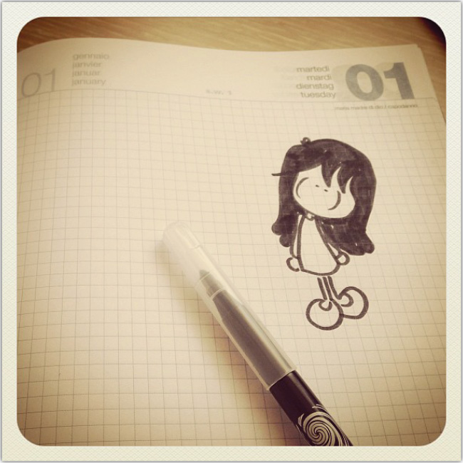 Una niña ilustrada