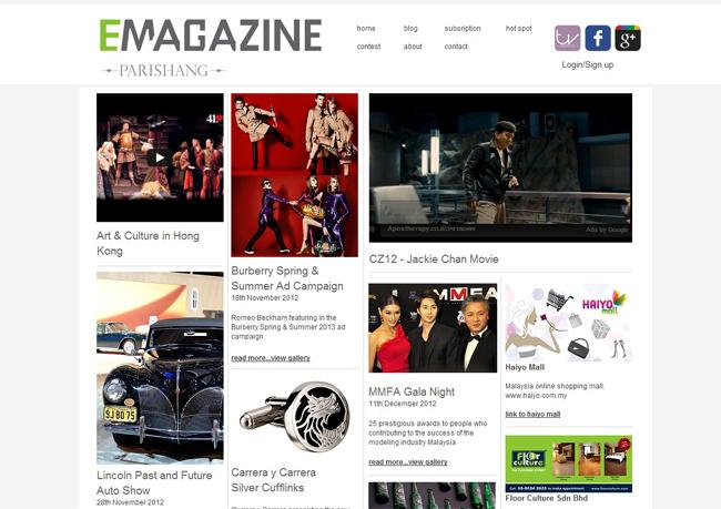 Sitio web de Wix inspirado en el diseño de Pinterest