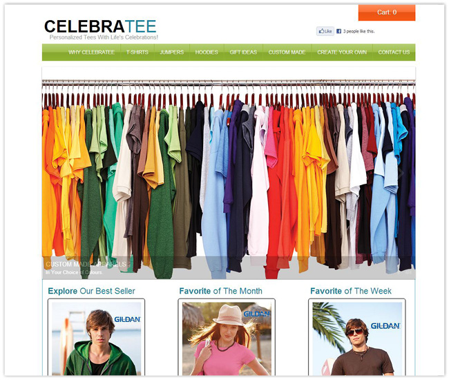 Página de Inicio de CelebraTee