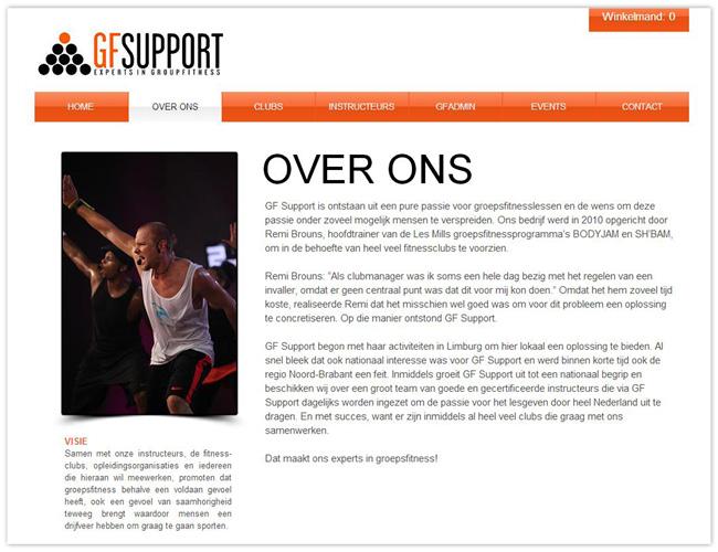 Página de Inicio de GF Support