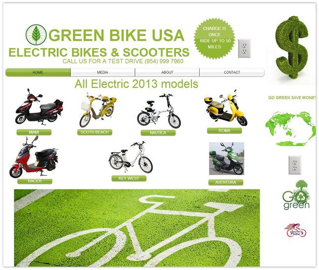 Página de Inicio de Green Bike USA