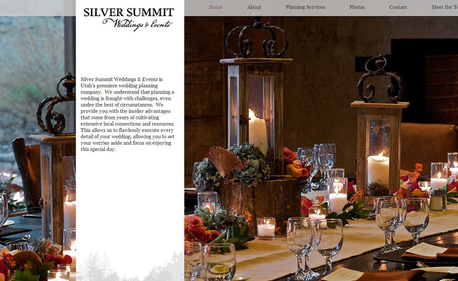 Sitio web de Silver Summit Weddings