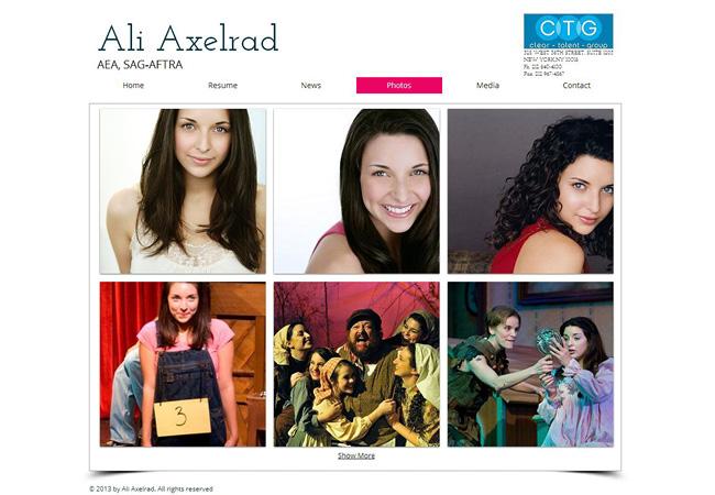 Página web de Ali Axelrad