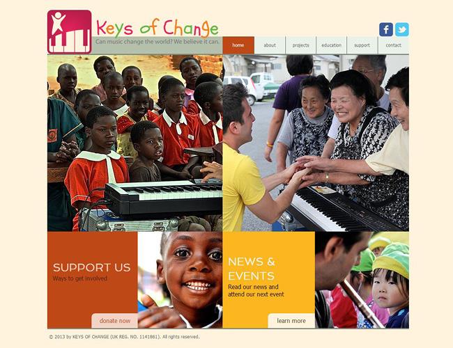 Sitio Web de la Fundación Keys of Change