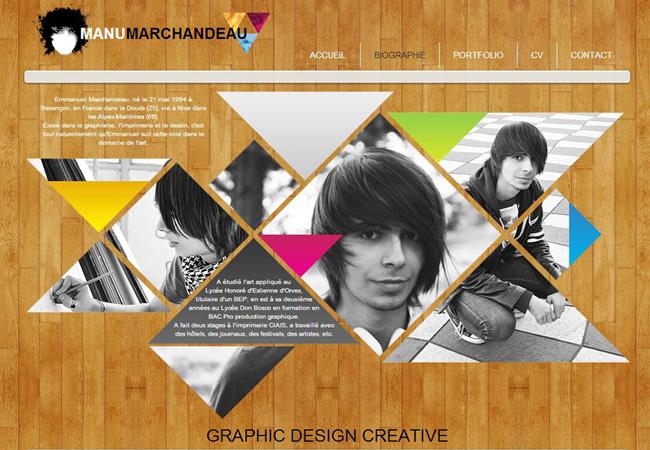 Página web de Manu Marchandeau