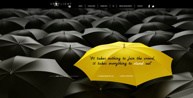 Sitio web de Spotlight 3D