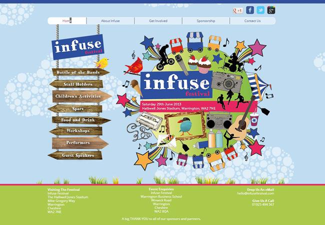 Pantallazo del Sitio de Infuse Festival