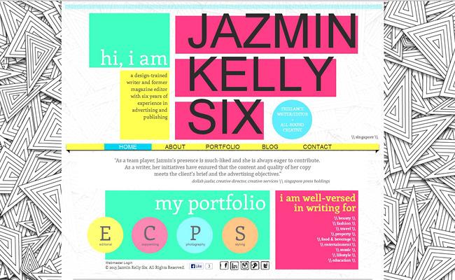 Pantallazo del Sitio de Jazmin Kelly Six