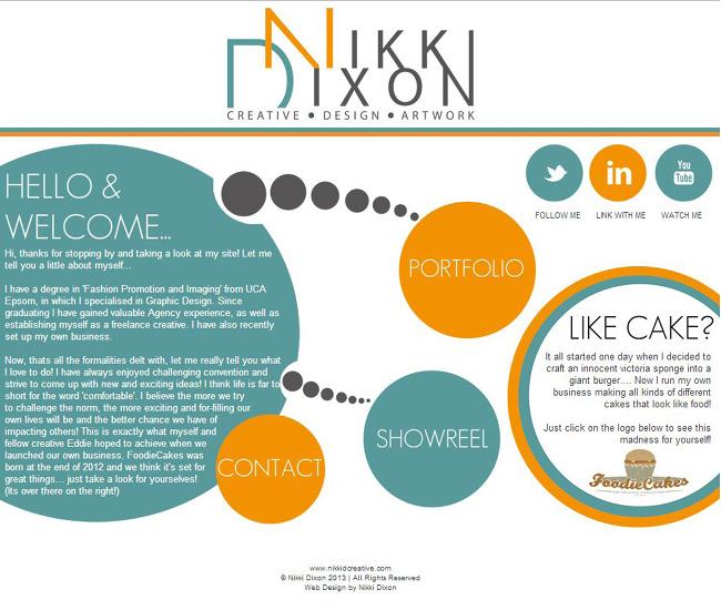 Pantallazo del Sitio de Nikki Dixon