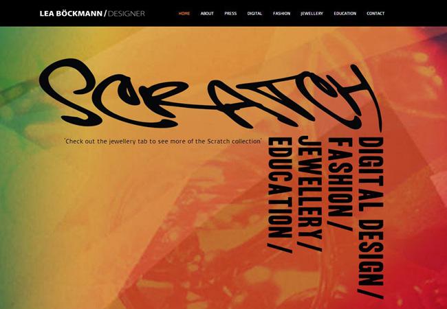 Pantallazo del Sitio de Scratch Designs