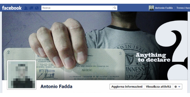 Screenshot de una foto de portada de Antonio Fadda