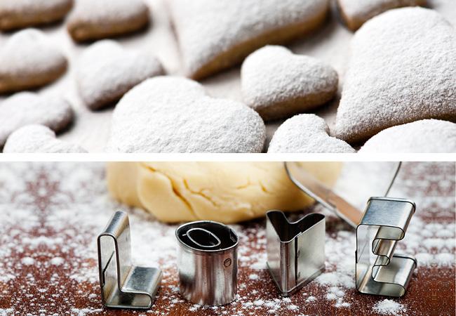 Imagen en primer plano de una mesa con masa y harina sobre ella.