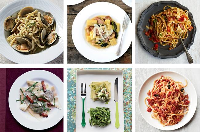 Collage de platos de Pasta.