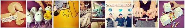 Conjunto de fotografías en formato preview del perfil de Instagram de Wix