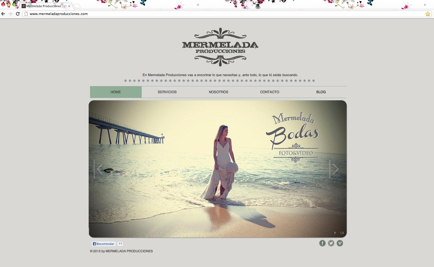 Screenshot del Sitio de Mermelada Producciones